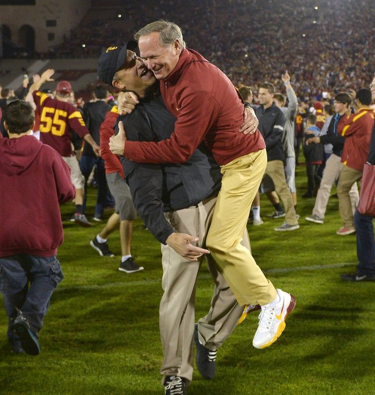 Insideusc With Scott Wolf: Pat Haden And Clay Helton Have A Lot In Common